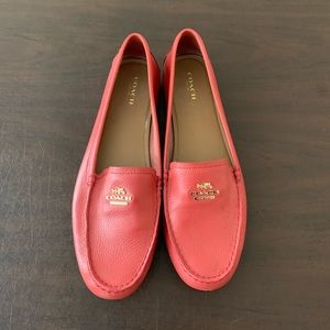 Coach women's loafers - coral - size 10